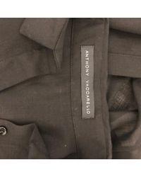 Camisa en poliéster negro Anthony Vaccarello de color Black