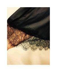 Carolina Herrera Black Seide Midi Kleid