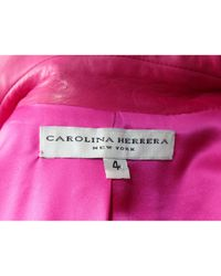 Carolina Herrera \n Pink Leather Jacket