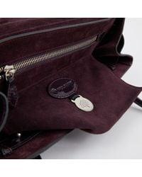 Mulberry Purple Lackleder Handtaschen