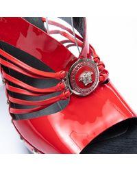 Versace Red Lackleder Pumps