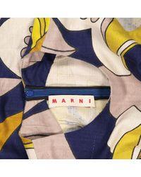 Robe mi-longue Marni en coloris Blue