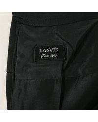 Falda en viscosa negro \N Lanvin de color Black