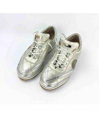 Versace Metallic Leder Sneakers