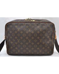 Louis Vuitton Reporter Brown Cloth Handbag