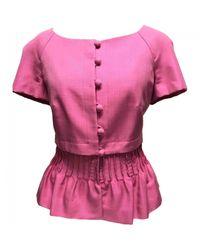 Dior - Pre-owned Vintage Pink Silk Jacket - Lyst