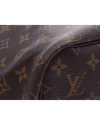 Louis Vuitton Brown Neverfull Leinen Shopper