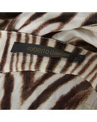 Roberto Cavalli \n Brown Silk Top