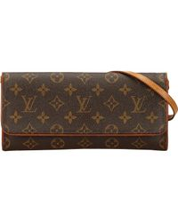 Pochette Twin de Lona Louis Vuitton de color Brown