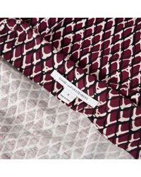 Diane von Furstenberg Purple Silk Mid-length Dress