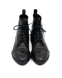 Balmain Black Leather Boots for men