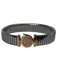 BVLGARI - Metallic Pre-owned Silver Steel Bracelet - Lyst