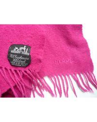 Pañuelos en cachemira rosa Châle Hermès de color Pink