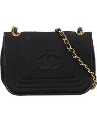 Chanel Black Seide Handtaschen