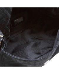 Bolso Baguette de Lona Fendi de color Black