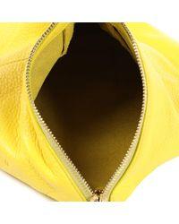 Bolsa de mano en cuero amarillo Jil Sander de color Yellow