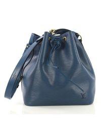 Sac à main Noé en Cuir Bleu Louis Vuitton en coloris Blue