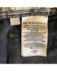 Jeans en Coton Noir Burberry en coloris Black