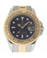 Orologio in oro e acciaio blu Yacht-Master di Rolex in Blue