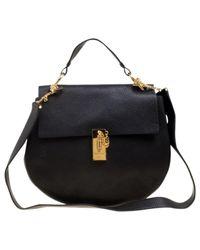 Chloé Black Drew Leder Handtaschen