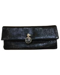 BVLGARI Black Patent Leather Clutch Bag