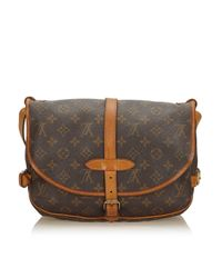 Borse a mano Saumur Marrone di Louis Vuitton in Brown