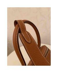 Bolsa de mano en cuero camel Lindy Hermès de color Brown