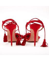Sandali Wild Thing Rosso di Aquazzura in Red