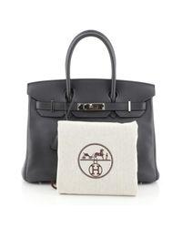 Hermès Gray Birkin 30 Leder Handtaschen