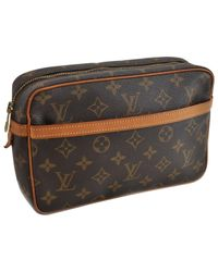Louis Vuitton Brown Trousse De Toilette Leinen Vanity