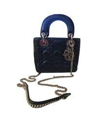 Dior Blue Lady Leather Crossbody Bag