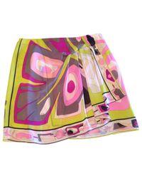 Emilio Pucci - Pink Silk Mini Skirt - Lyst