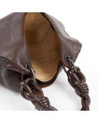 Bolsa de mano en cuero marrón Bottega Veneta de color Brown