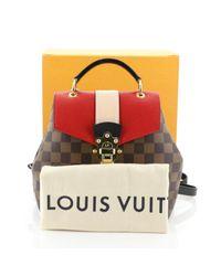 Borsa a mano in tela marrone Clapton di Louis Vuitton in Brown