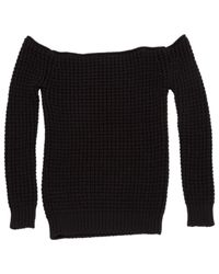 Loewe Black Cotton Knitwear