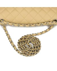 Chanel Natural Timeless/classique Leder Handtaschen