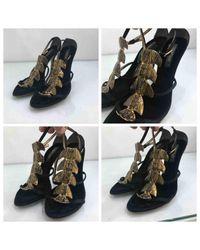 Roberto Cavalli \n Black Leather Heels