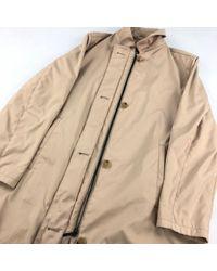 Abrigo en Poliéster Beige Burberry de color Natural