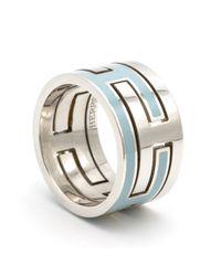 Hermès Blue Silver Ring
