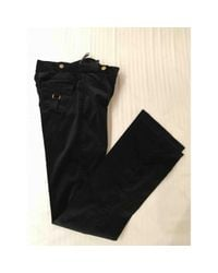 Roberto Cavalli \n Black Cotton Trousers