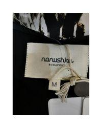 Top in sintetico nero di Nanushka in Black