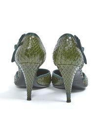 Escarpins en Python Vert Sergio Rossi en coloris Green