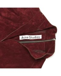 Top Acne en coloris Red