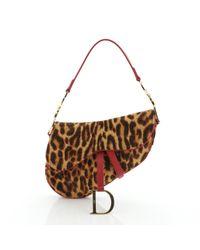 Dior Brown Saddle Leder Handtaschen