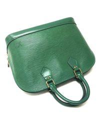 Louis Vuitton Green Alma Leder Handtaschen