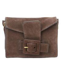 Miu Miu \n Brown Suede Handbag