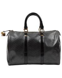 Bolsa de mano en plástico negro Bowling Dior de color Black