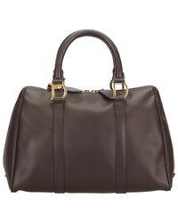 Dior Brown Leder Handtaschen