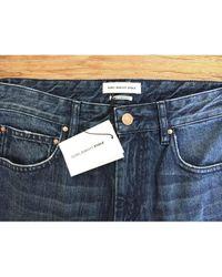 Étoile Isabel Marant Blue Cotton Jeans