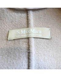 Mantel en Laine Gris Max Mara en coloris Gray